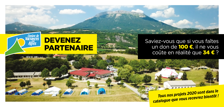 Devenez partenaire du Centre de Vacances des Alpes